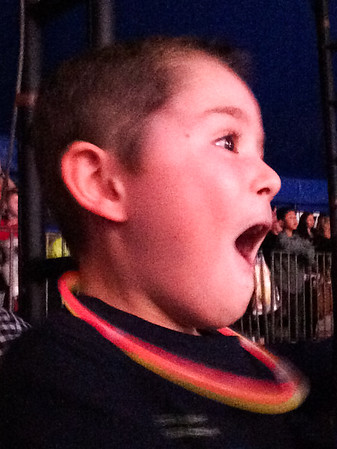 Nate reacts to circus act
